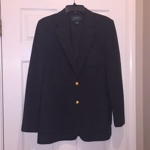 Ralph Lauren wool blazer. Fully lined gold accents